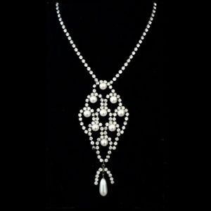 Art Deco Gatsby Rhinestone Statement Necklace